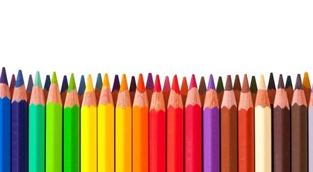 Copyspase と色とりどりの鉛筆からの国境します。