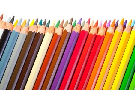 Border from multicolored pencils with copyspase Stock Photo - 9854687