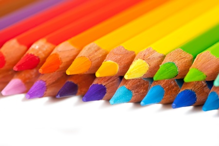Many pencils with copyspase over white Stock Photo - 9854800