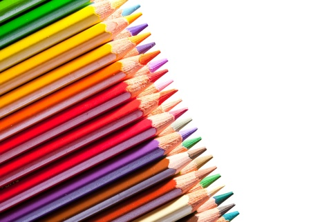 Many pencils with copyspase over white Stock Photo - 9854782