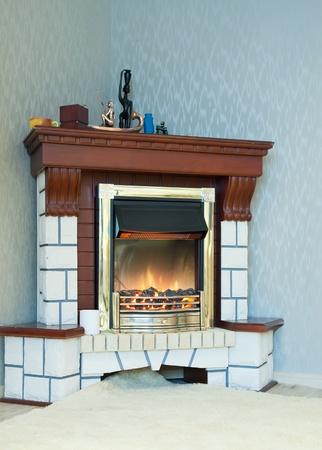 elsectir fire in home interior photo