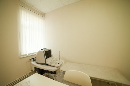 Interior with ultrasound equipment in medical clinic photo