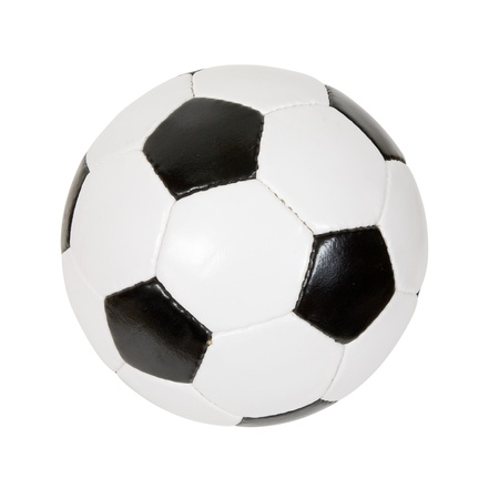 futbol: classic soccer ball. Isolated over white background