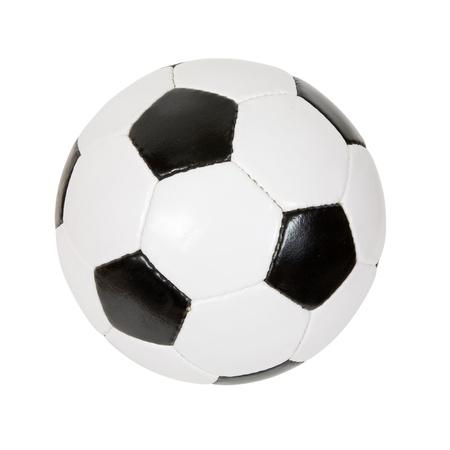 futbol: classico pallone da calcio. Isolato su sfondo bianco