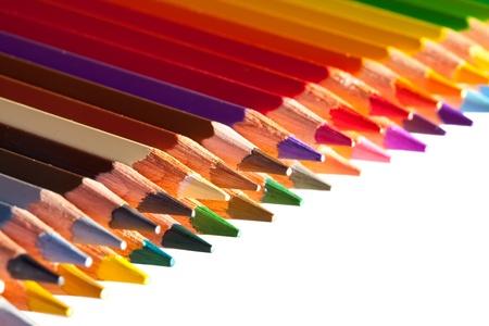Lápices con copyspase sobre blanco Foto de archivo - 10412274