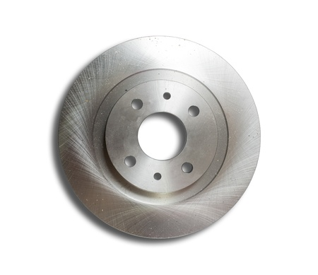 Auto circular plate. Isolated on white with clipping path photo