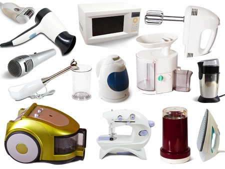 Set of  household appliances. Isolated on white background Stock Photo - 10509807