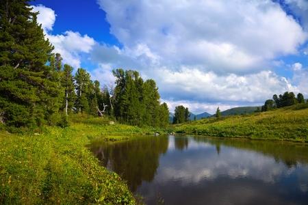 Ayryk lakes in Altai mountains.   Suberia, Russia