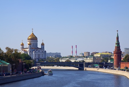 Kind to Christ the Savior Cathedral an Moscow Kremlin    photo