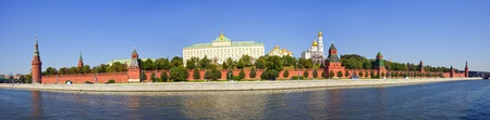 moskva river: Panorama of  Moscow Kremlin  and   Moskva River