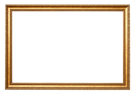 gild: Classic gold frame. Isolated over white background