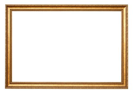 gild: Gold frame Classic. Isolato su sfondo bianco Archivio Fotografico