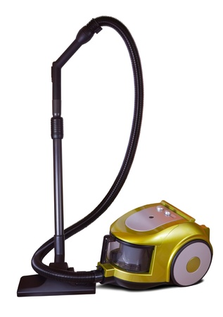 household vacuum cleaner. Isolated on white with shadow photo