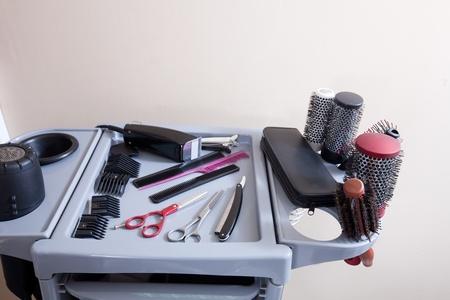haircutter: hairdresser tools in hair salon
