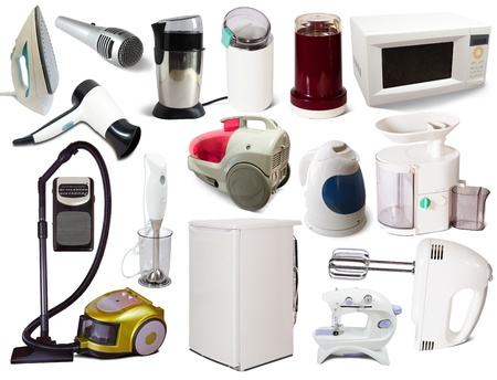 Set of  household appliances. Isolated on white background with shadows Stock Photo - 10677808