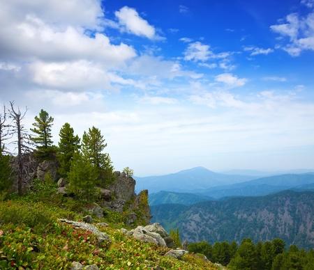 Simple mountains landscape. Altai, Siberia Stock Photo