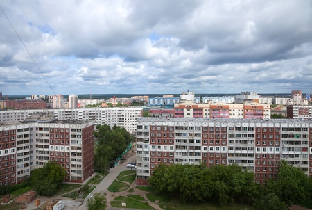 residential settlement: Panoramic view of residential district at Novosibirsk city. Russia