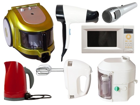 mini oven: Set of  household appliances