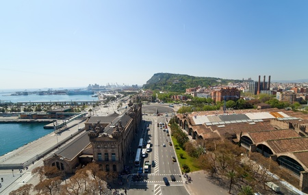 View of Barcelona. Aerial view from the Columbus Column Stock Photo - 10769818