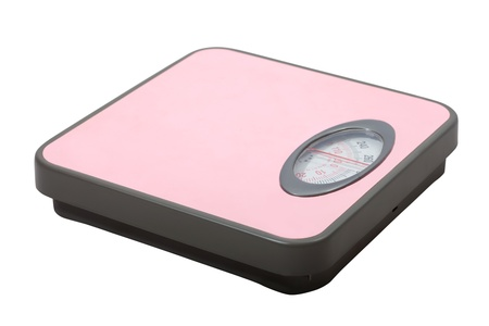Weighing scales. Isolated  over white background photo