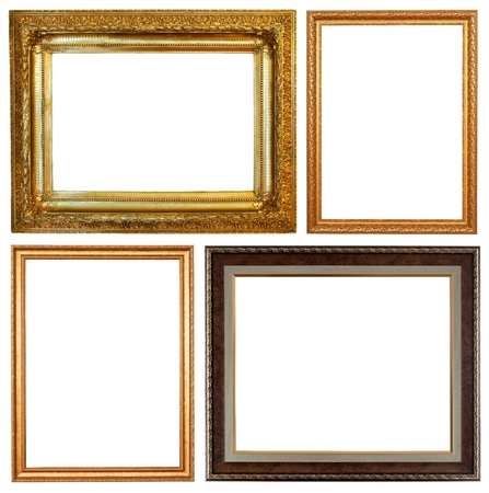 Set of few picture frames. Isolated over white background with clipping path photo