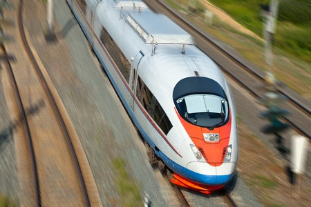High-speed passenger train in motion Stock Photo - 11294674
