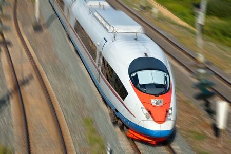 High-speed passenger train in motion Stock Photo - 11294674