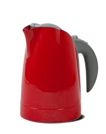 electric tea kettle. Isolated on white background with shadow photo