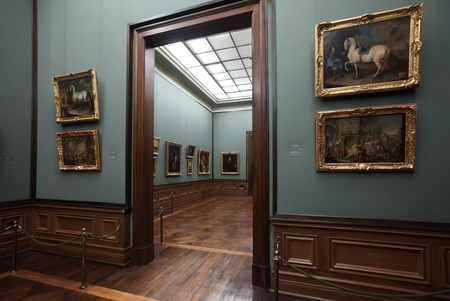 DRESDEN, GERMANY - NOVEMBER 18: Old Masters Picture Gallery  in November 18, 2011 in Dresden, Germany. Each year the gallery has more than half a million people