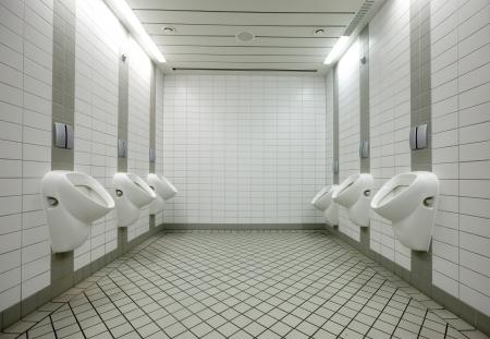 Few white urinals in toilet Stock Photo - 20408338