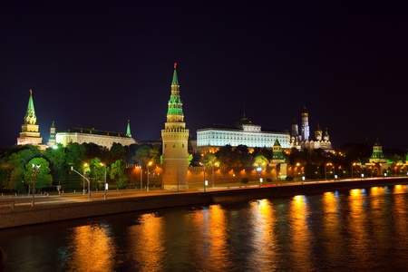 View of Moscow Kremlin in night. Russia Stock Photo - 11458836