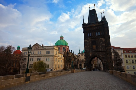 Charles Bridge in Prague.  Czech Republic  photo