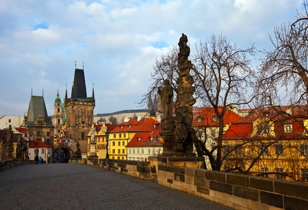 Day view of  Charles bridge. Prague, Czech Republic  photo