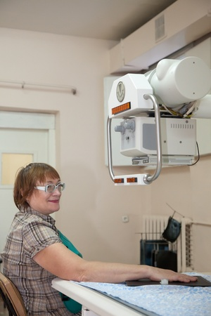 patient during  hand x-rays exam in clinic Stock Photo - 11883032