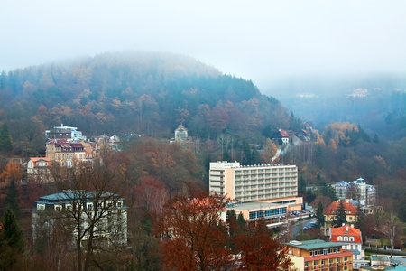 carlsbad: View of Karlovy Vary. Czech Republic