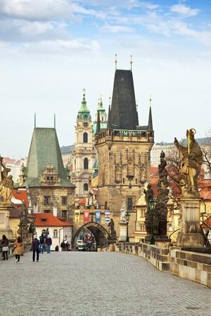 charles bridge: Day view of  Charles bridge. Prague, Czech Republic