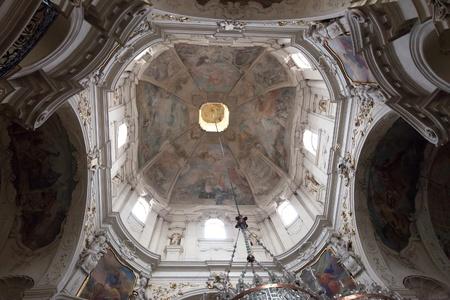 Dome in Church of St. Nicholas in Prague,   Czech Republic Stock Photo - 11867508