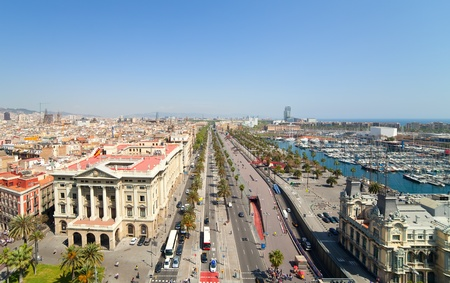 Top view of Passage Colom. Barcelona, Spain