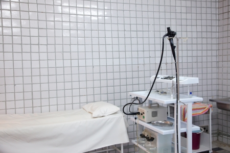endoscope: Interior with endoscope equipment in medical clinic