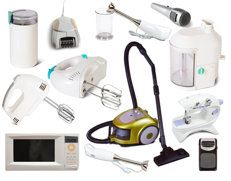 Set of  household appliances. Isolated on white background with shadows Stock Photo - 12077188