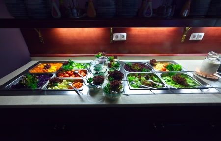 veggie tray: vegetables in trays  at buffet
