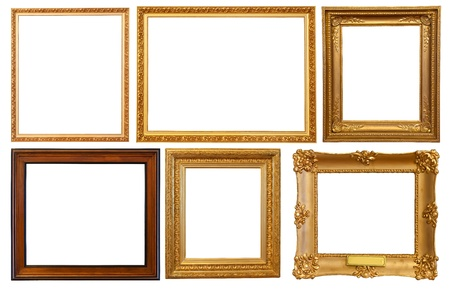 few: Set of few  picture frames. Isolated over white background