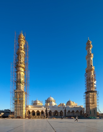 Construction of mosque in Hurghada.  Egypt photo