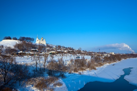 View of Vladimir downtown in winter, Russia photo