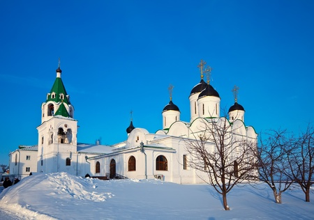 spassky: Holy Transfiguration Monastery at Murom in winter. Russia