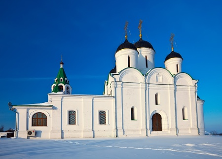 Spassky Cathedral of Holy Transfiguration Monastery at Murom in winter. Russia Stock Photo - 12239255