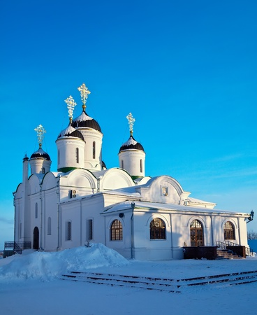 spassky: Spassky Cathedral of Holy Transfiguration Monastery at Murom in winter. Russia
