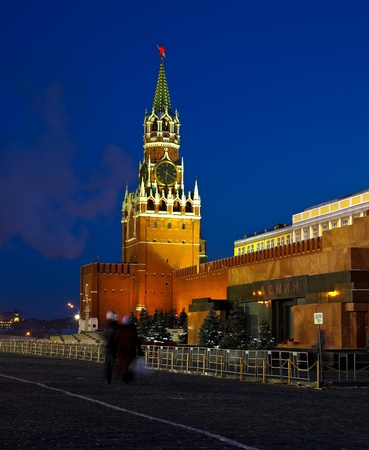 Spasskaya Tower of Moscow Kremlin at Red Square in Moscow. Russia Stock Photo - 12240327