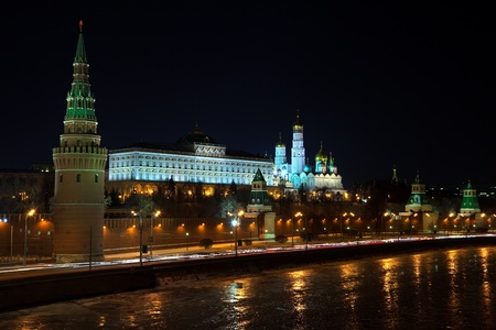 View of Moscow Kremlin in winter night. Russia Stock Photo - 12288753