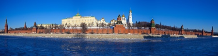 Panorama of Moscow Kremlin in winter day. Russia photo